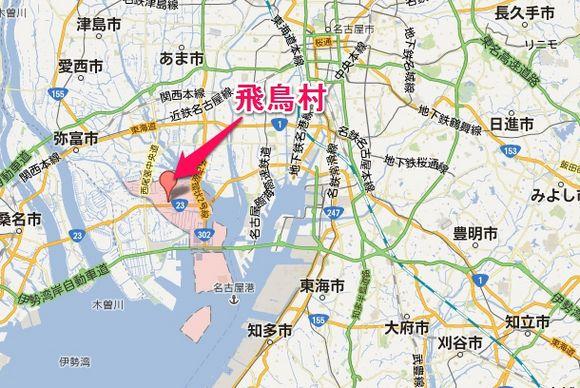 飛鳥村地図