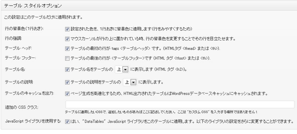 WP-Table Reloaded設定6