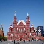 ロシアモスクワ赤の広場でさんさ踊りをしていたぞ