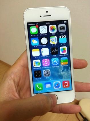 iPhone5s入荷電源オン