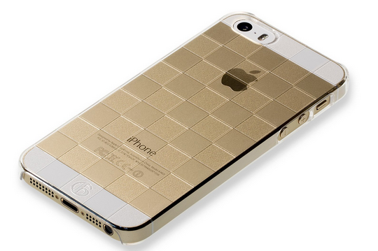 iPhone5sゴールドクリアケース