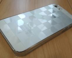 iPhone5sクリアケースダミエ
