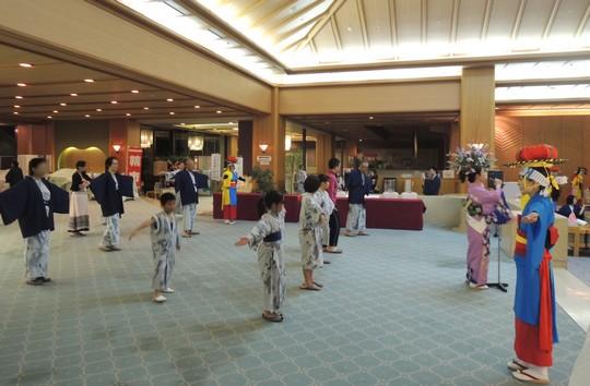 ホテル紫苑さんさ踊り方教室2