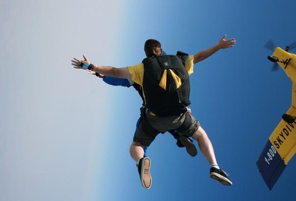 スカイダイビング体験した