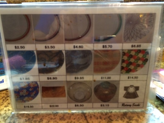 グァム寿司屋皿価格