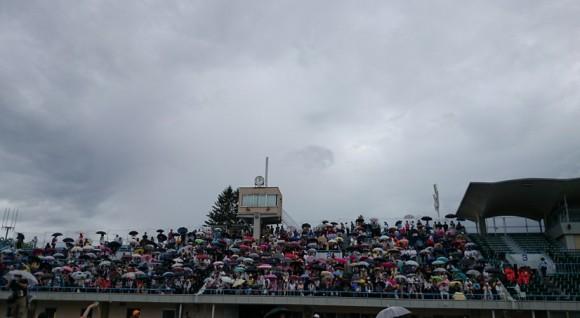 盛岡さんさギネス記録挑戦が雨