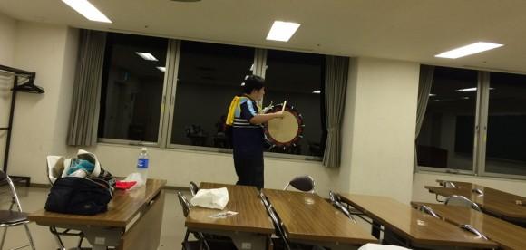 K君のさんさ太鼓練習4