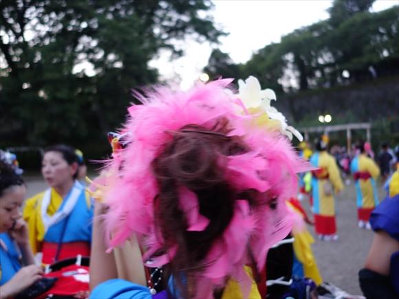 さんさ踊りヘアスタイルと飾り付け20-2