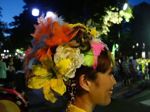 さんさ踊りヘアスタイルと飾り付け22-3