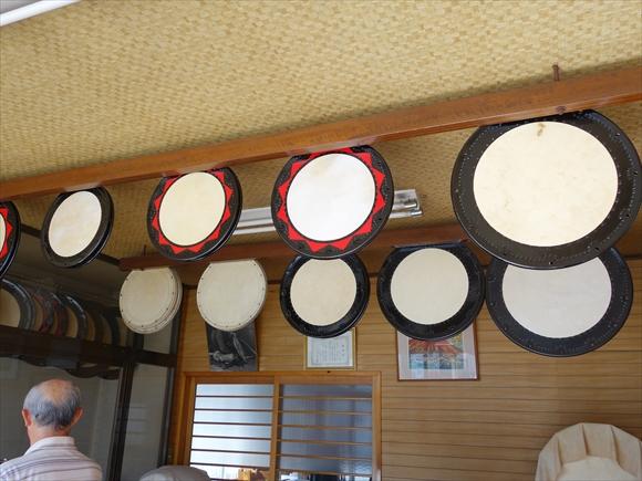 太鼓を乾かす