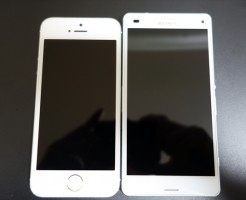iPhone5sとXperiaZ3Compact