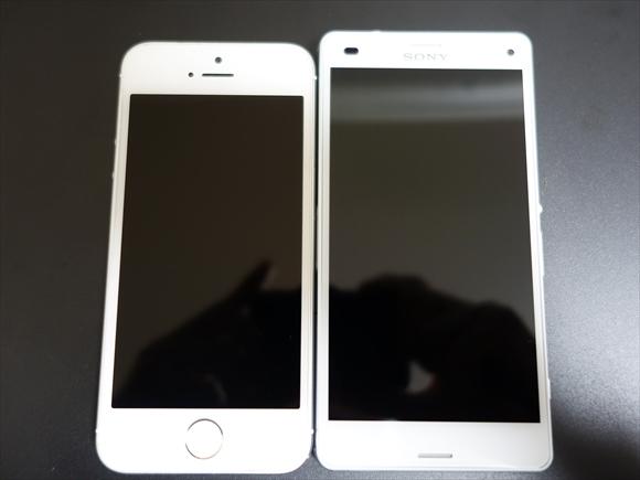 iPhone5sとXperiaZ3Compact違い1(大きさ1)