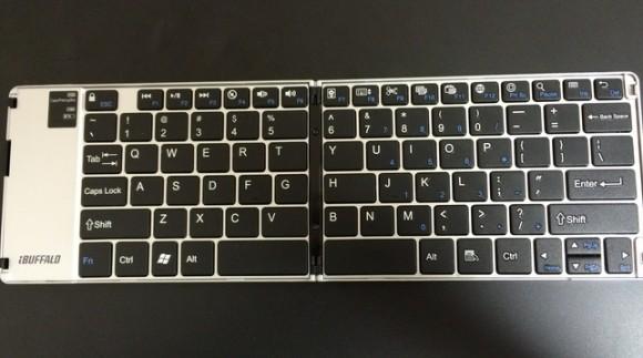 iPhoneとAndroid用ブルートゥース折り畳みキーボード配列