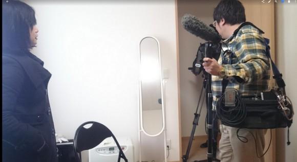 日本テレビの取材を受けた