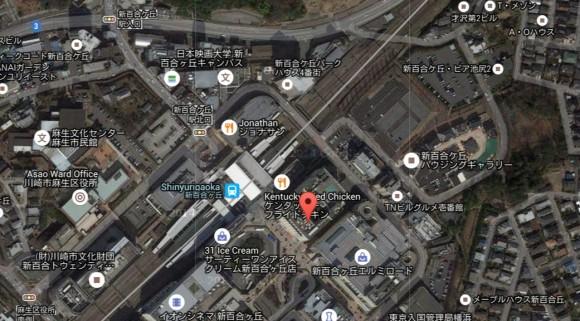 カスペルスキーのスマホ端末追跡機能地図
