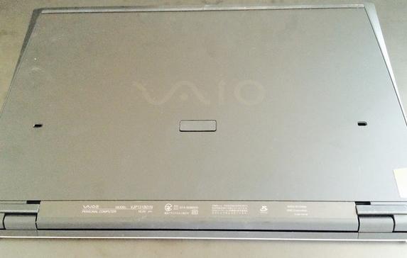 旧機種VAIOPro背面写真