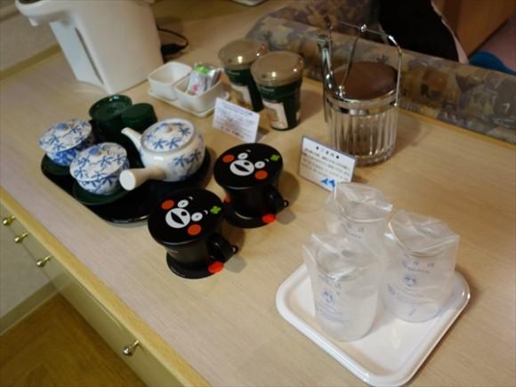 くまモングッズと夢見る熊本の旅ルームコップ
