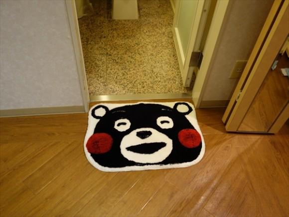 くまモングッズと夢見る熊本の旅ルーム浴室
