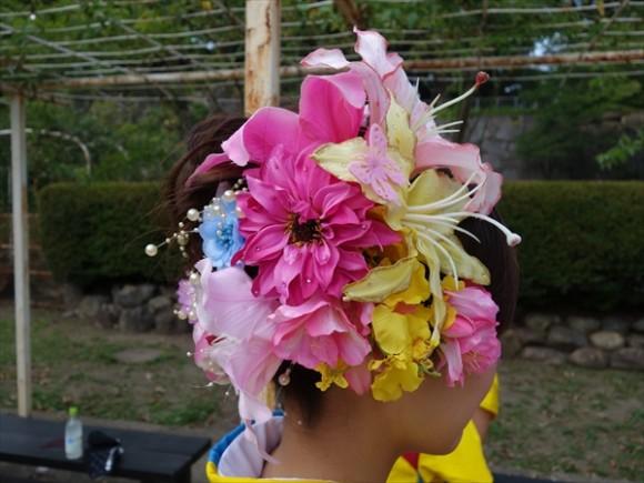 2015盛岡さんさ踊りヘアスタイル&飾り付け集