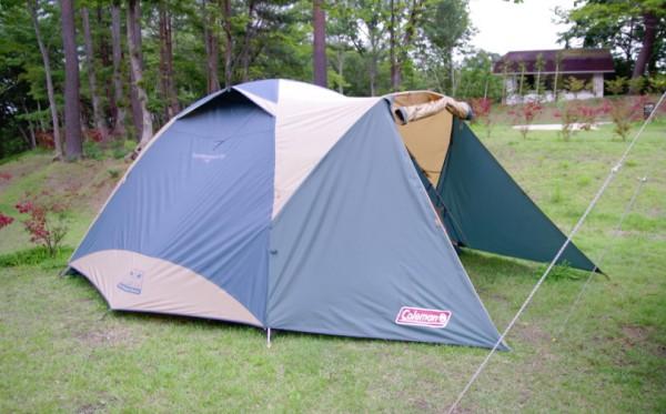 休暇村のテント