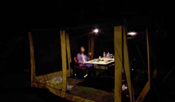 LEDランタンSOL-036C明るさ3