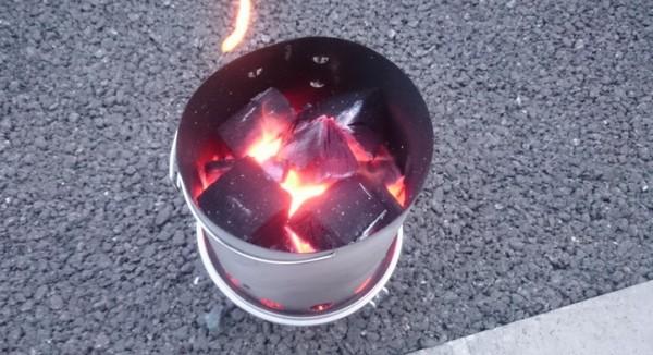 火おこし器7分後