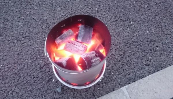 火おこし器12分後