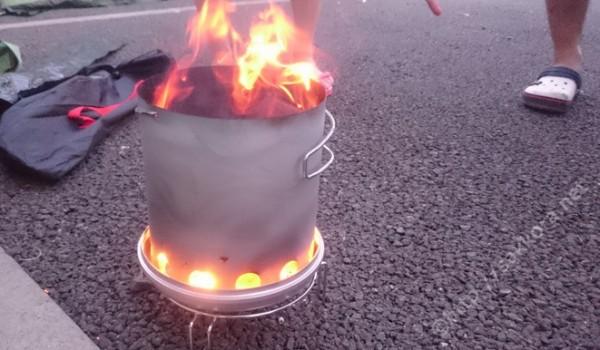 バーベキュー簡単グッズ火おこし器火消し壺