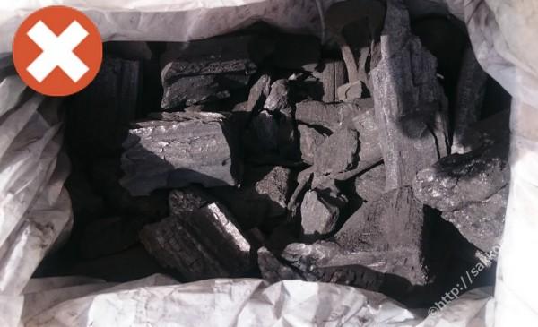 輸入物のクズ炭1