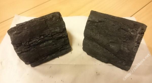 岩手切炭の樹皮部分