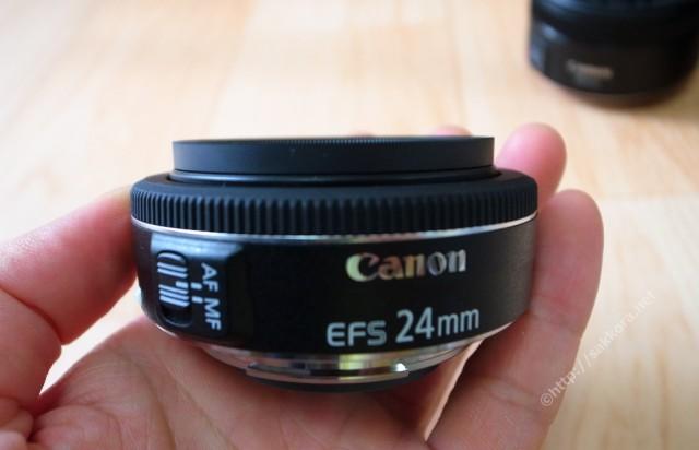 キャノンEFS24mmF2.7単焦点レンズ