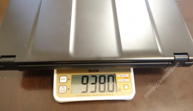 レッツノートSZ5バッテリーパックS装備重量