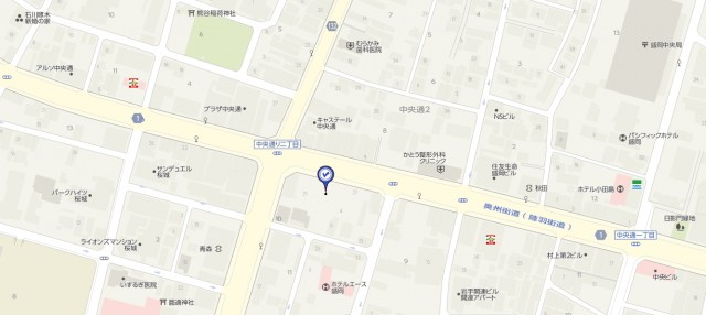 RIZAP盛岡の場所地図