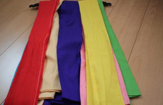 盛岡さんさ踊りの五色帯・腰帯