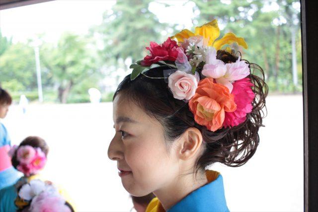 盛岡さんさ踊りヘアスタイル・飾り付け・小物集8