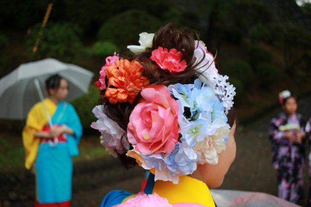 盛岡さんさ踊りヘアスタイル・飾り付け・小物集1