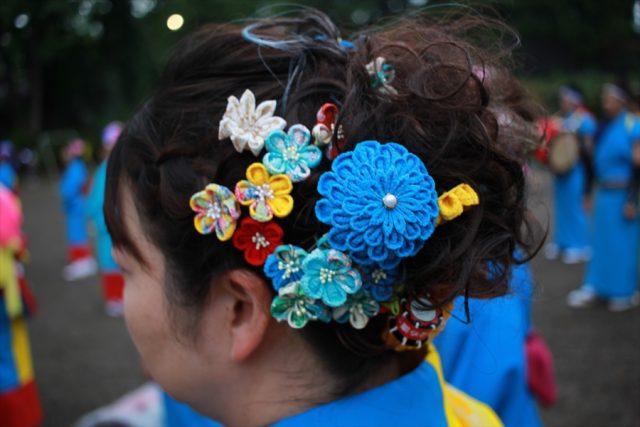 盛岡さんさ踊りヘアスタイル・飾り付け・小物集30